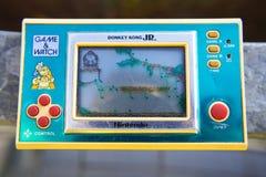 Vintage handheld electronic Nintendo game Donkey Kong JR. Royalty Free Stock Photo