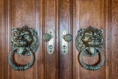 Vintage handles for doors. Stock Photos