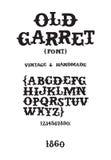 Vintage handmade font. Vintage western victorian handmade font Stock Photo