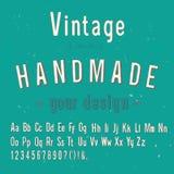 Vintage handmade style alphabet,  & illustration Stock Photography
