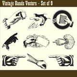 Vintage Hands Vectors Royalty Free Stock Photo