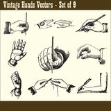 Vintage Hands Vectors Stock Photography