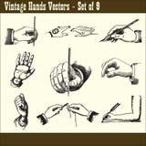 Vintage Hands Vectors Stock Photography