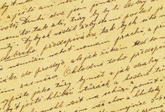 Vintage handwriting stock images