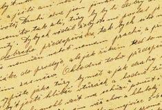 Vintage handwriting Stock Images