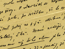 Vintage handwriting. From old letter Royalty Free Stock Images