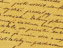 Vintage handwriting. From old letter Stock Images
