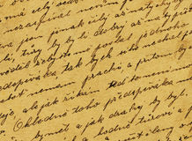 Vintage handwriting. From old letter Stock Photography