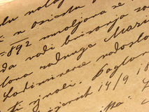 Vintage handwriting Stock Photos