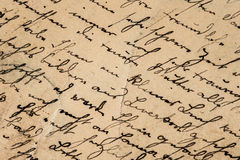Vintage handwriting. grunge paper background Royalty Free Stock Photo