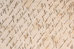 Vintage handwriting. grunge paper background Royalty Free Stock Photos