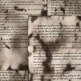 Vintage handwritten Bible pages Royalty Free Stock Photos