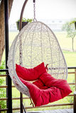 Vintage hanging chair Royalty Free Stock Photography