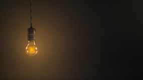 Vintage hanging light bulb Stock Photos