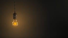 Vintage hanging light bulb stock photos