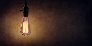 Vintage Hanging Light Bulb Royalty Free Stock Photos