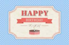 Vintage happy birthday card Stock Image