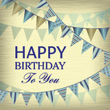 Vintage Happy Birthday card Royalty Free Stock Images