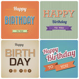 Vintage Happy Birthday Card.Illustration Royalty Free Stock Photo