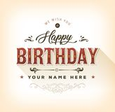 Vintage Happy Birthday Card Stock Photos