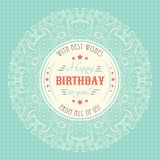 Vintage happy birthday card. Typography letters Royalty Free Stock Photos