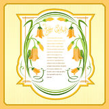 Vintage happy easter background with flower frame and place for text Stock Photography