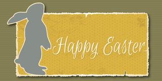 Vintage Happy Easter banner. Vector illustration - Easter banner in retro style Stock Image