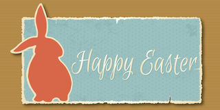 Vintage Happy Easter banner. Vector illustration - Easter banner in retro style stock illustration