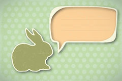Vintage Happy Easter card. Nice Easter Card in vintage design -  illustration Royalty Free Stock Image