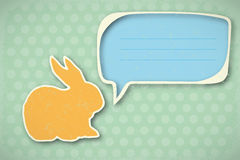Vintage Happy Easter card. Nice Easter Card in vintage design -  illustration Royalty Free Stock Photos