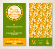 Vintage Happy Easter Greeting Card Design Royalty Free Stock Photos