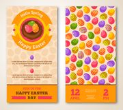 Vintage Happy Easter Greeting Card Design Stock Image