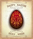 Vintage happy easter and holy week card Stock Photography