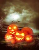 Vintage Happy Halloween Background Stock Photo
