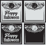 Vintage Happy Halloween greetings cards with pumpkin Royalty Free Stock Image