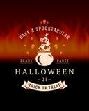 Vintage Happy Halloween Typographic Design Royalty Free Stock Image