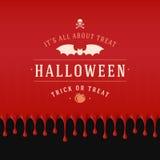 Vintage Happy Halloween Typographic Design Royalty Free Stock Images