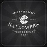 Vintage Happy Halloween Typographic Design Stock Photo