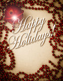 Vintage Happy Holiday Cards Cover Stock Photography