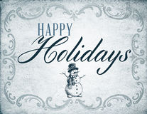 Vintage Happy Holiday Stock Photo