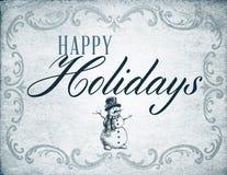 Vintage Happy Holiday Stock Photo