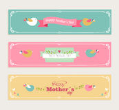 Vintage Happy Mothers Day Banners Set Stock Image