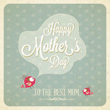 Vintage Happy Mothers Day Card Royalty Free Stock Images