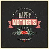 Vintage Happy Mothers Day Card Stock Image