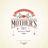 Vintage Happy Mothers Day Card Stock Photography