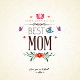 Vintage Happy Mothers Day Card Royalty Free Stock Photo