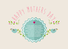 Vintage Happy Mothers day greeting card Royalty Free Stock Image