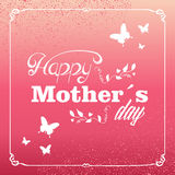 Vintage Happy Mothers day greeting card Royalty Free Stock Photo