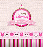Vintage Happy Mothers Day Pink Design Stock Image