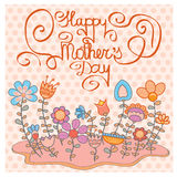 Vintage Happy Mothers's Day Background. Vector illustration Royalty Free Stock Photo